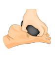 foot stone therapy massage vector image