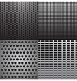 four grey metal vector image