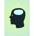 fried brain vector image