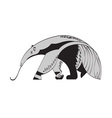 giant anteater vector image vector image