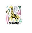 giraffe hand drawn vector image vector image
