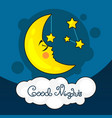 good night card with moon vector image vector image