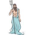 Greek god poseidon cartoon