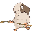 guinea pig cartoon vector image vector image