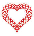 heart curved line icon simple style vector image