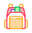 human shop backpack icon outline vector image