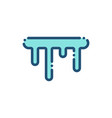 icicles weather icon outline vector image