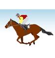 jockey vector image vector image