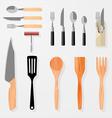 Kitchen bar restaurant design elements vector image vector image