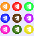knife picnic icon sign Big set of colorful diverse vector image vector image