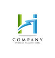 letter h lightning logo icon design template vector image vector image