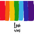 lgbt concept with rainbow 5 vector image vector image