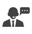linear call center operator icon vector image vector image