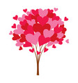 love tree with heart leaves vector image