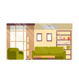 modern living room flat interior design vector image