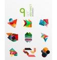 Modern paper info banner layout set vector image vector image