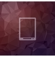 Modern tablet in flat style icon vector image
