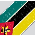 Mozambique grunge flag vector image vector image