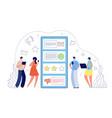 online feedback internet review customer survey vector image vector image