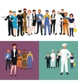 People different profession Man and woman vector image vector image