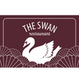premium swan on fan wave japanese or chinese style vector image vector image