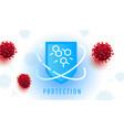 protection 3d shield against coronavirus bacteria