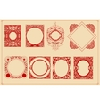 Retro cards templates set vector image
