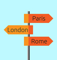 Road direction sign vector image