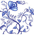 seamless floral pattern background of blue vector image vector image