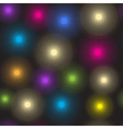 Seamless pattern of luminous colorful spots vector image