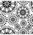 seamless pattern with mandalas vector image vector image