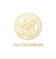Simple and elegant logo design template in trendy vector image