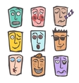 Sketch emoticons colored set vector image vector image