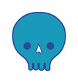 skull danger symbol to caution alert vector image vector image