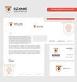 skull flag business letterhead envelope and vector image
