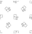 smart fridge pattern seamless vector image