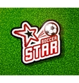 soccer badge logo template football design vector image vector image