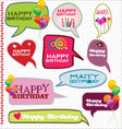 Speech bubbles retro design - Happy Birthday vector image vector image