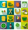 St Patrick Day flat icons vector image vector image