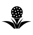 Stand for golf ball icon simple style vector image vector image