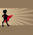 super boy ray light silhouette vector image vector image
