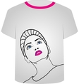 T Shirt Template- Glamor model vector image vector image