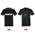 T-shirts with spider web on it vector image