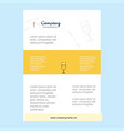 template layout for glass comany profile annual vector image