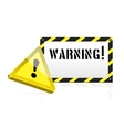 Warning background vector image