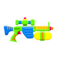 water gun bright multi-colored childrens toy vector image vector image