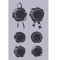 Wax seals black templates set vector image vector image