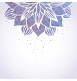 with watercolor violet floral pattern vector image vector image