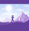 woman running to the point vector image vector image