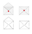 valentines day receiving or sending love emails vector image